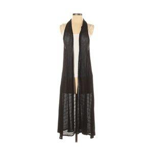 American Eagle Black Maxi Sleeveless Knit Duster